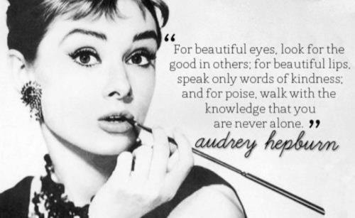 the beautiful Audrey Hepburn