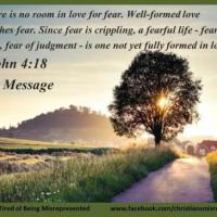 There is no room in love for fear