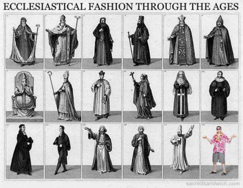 Ecclesiastical Fashion Through the Ages (another pic from sacredsandwich.com)