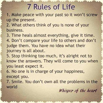 Seven Rulesof Life