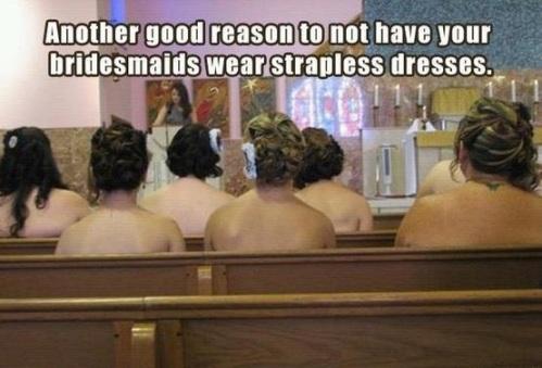 nude bridesmaids