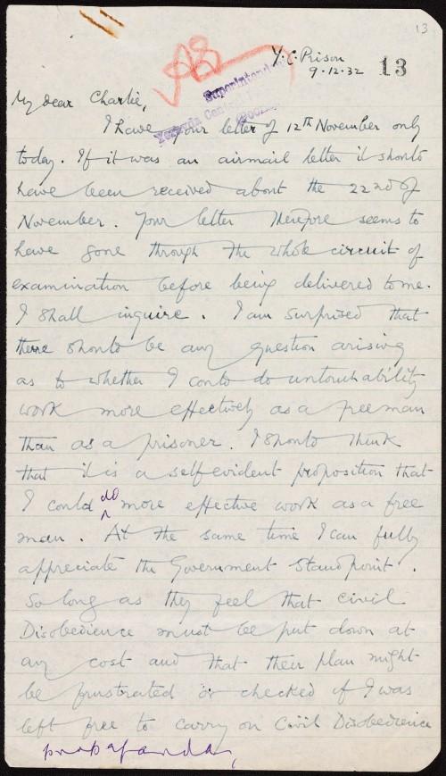 letter from Ghandi