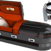 217: Star Trek casket or urn  (available from www.shipoffools.com - Gadgets for God)