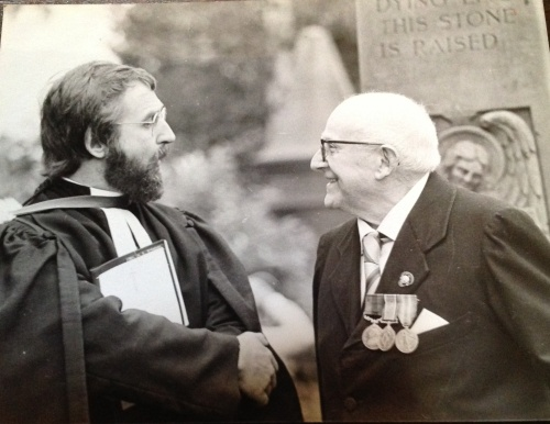 Inveresk Kirk War Memorial - Remembrance 1987 (with Mr George Colville)