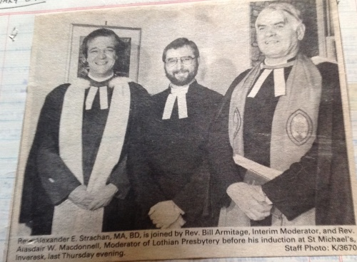 Induction - St Michael's, Inveresk - January 1987
