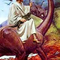 Jesus and the Dinosaur (caption by the Rev Owain Jones)