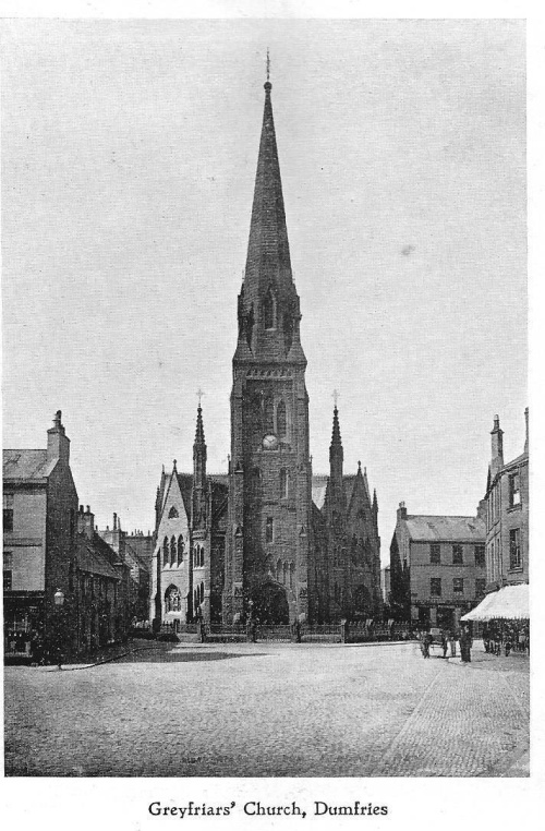 Greyfriars Church Dumfries c1880. (via John Kerr and Old Dumfries)