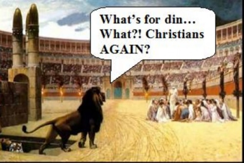 Why were the Christians in Rome so poor?  The lions ate all the prophets!