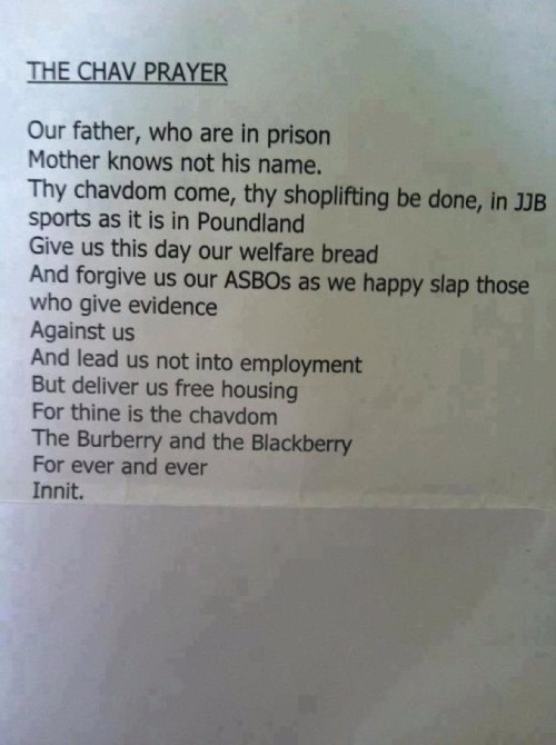 Chav Prayer