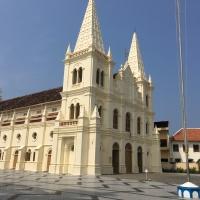 Visit to Santa Cruz Basilica, Kochi, Kerala, India - October 2017